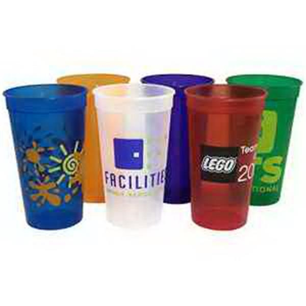 32 oz Jewel Stadium Cup - 32 oz. Translucent stadium cup.