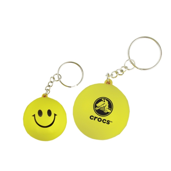 Stress Relievers - Smile Face Key Chain