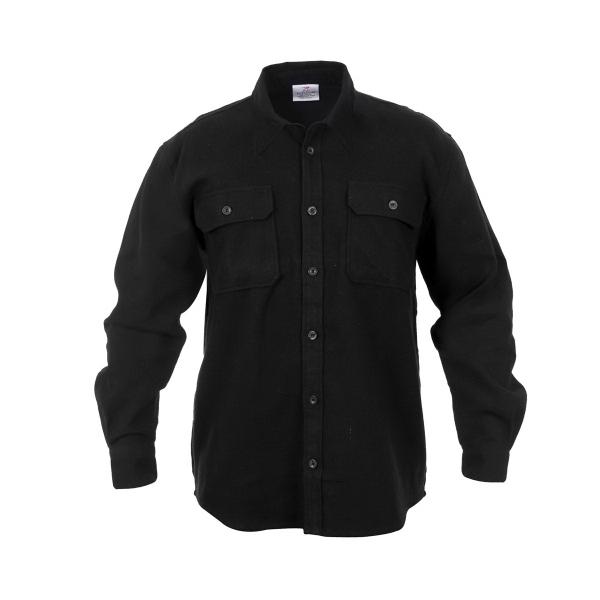 Black Extra Heavyweight Flannel Shirt