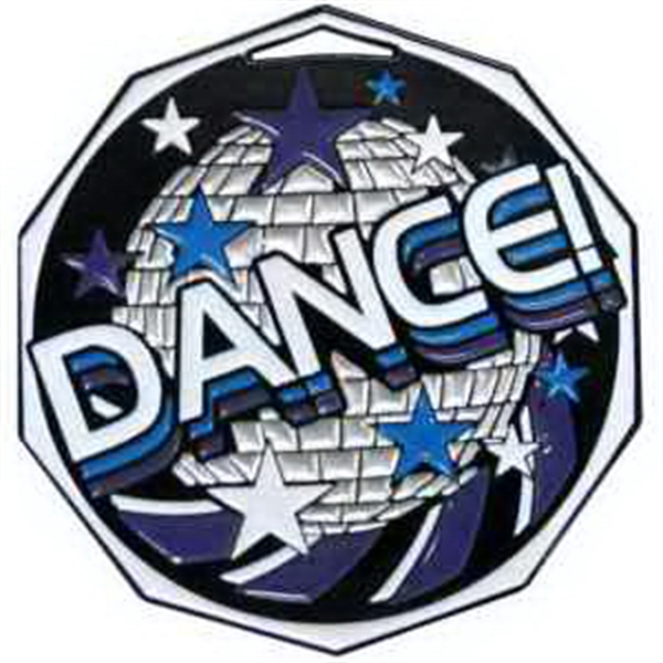 "2"" Decagon Colored Medal DANCE"