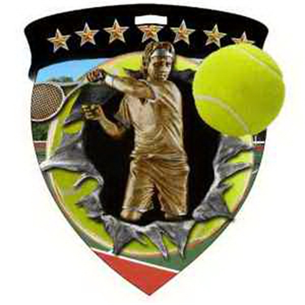 "3"" Color Shield Medallion TENNIS (Male)"