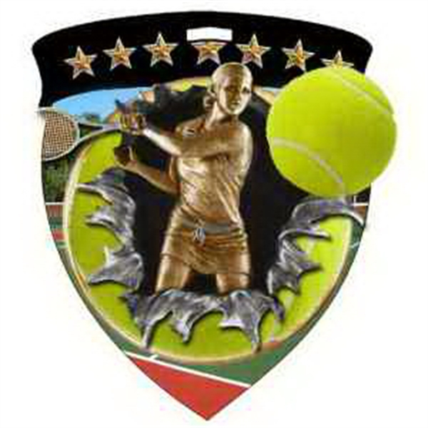"3"" Color Shield Medallion TENNIS (Female)"