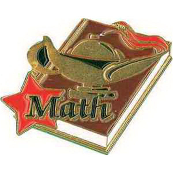 "1 1/4"" MATH PIN Lapel Pin"