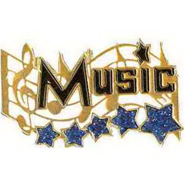 "1 1/4"" Music Award Lapel Pin MUSIC"