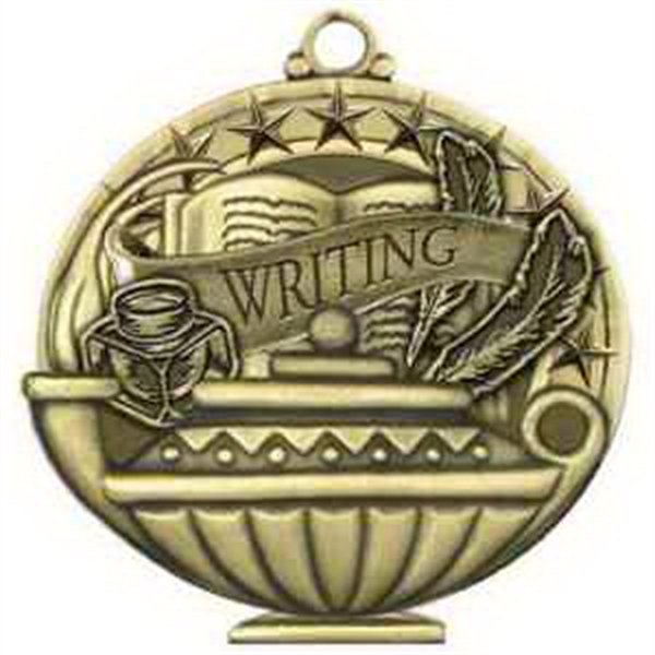 "2"" Academic Performance Medal WRITING in Gold"