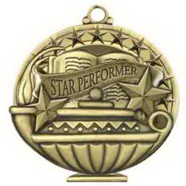 "2"" Academic Performance Medal STAR PERFORMER in Gold"