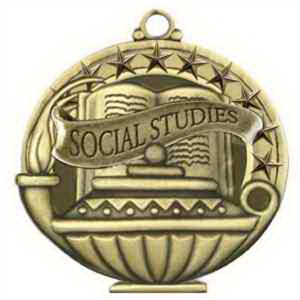 "2"" Academic Performance Medal SOCIAL STUDIES in Gold"