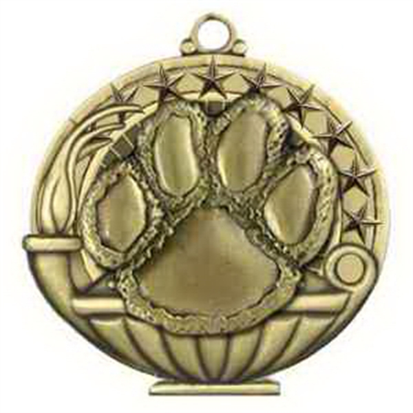 "2"" Academic Performance Medal PAW in Gold"