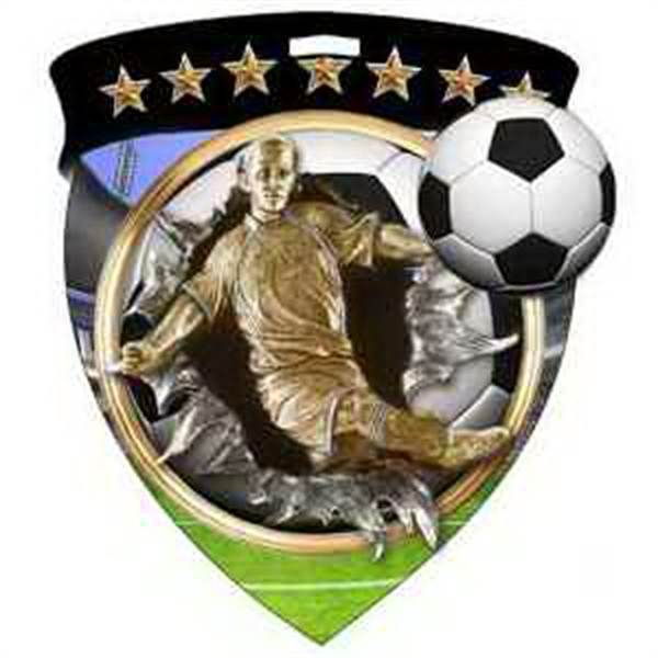"3"" Color Shield Medallion SOCCER (Male)"