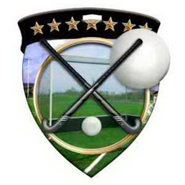 "3"" Color Shield Medallion FIELD HOCKEY"