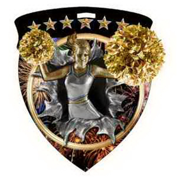 "3"" Color Shield Medallion CHEERLEADER"