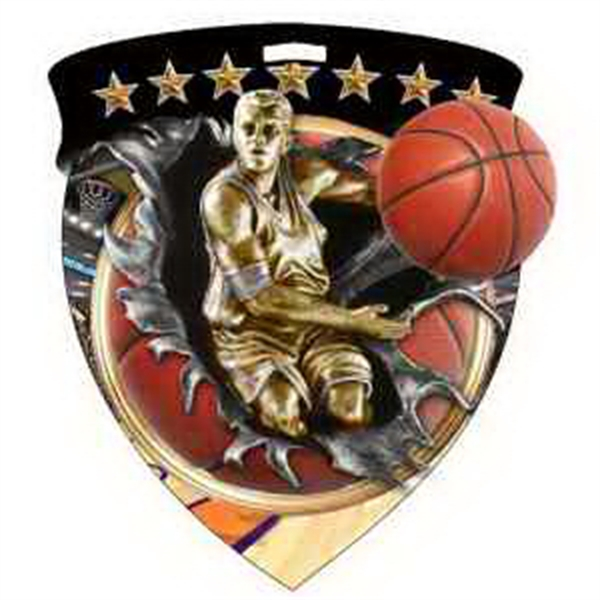 "3"" Color Shield Medallion BASKETBALL (Male)"