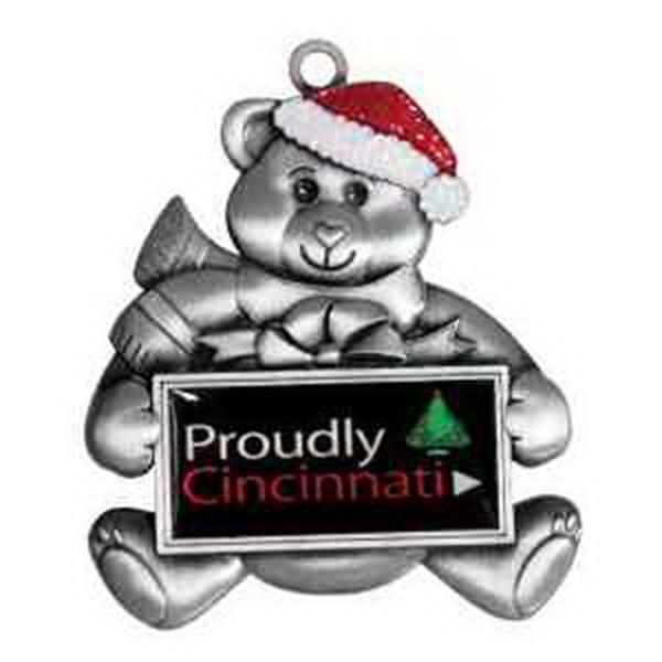 Holiday Ornament Vibraprint -  Teddy Bear