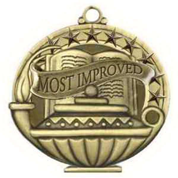 "2"" Academic Performance Medal MOST IMPROVED in Gold"