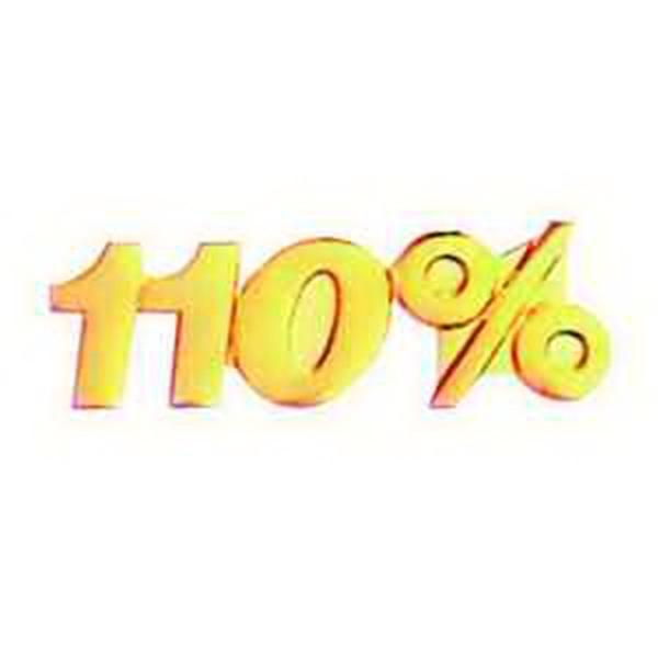 Service Lapel Pin 110%