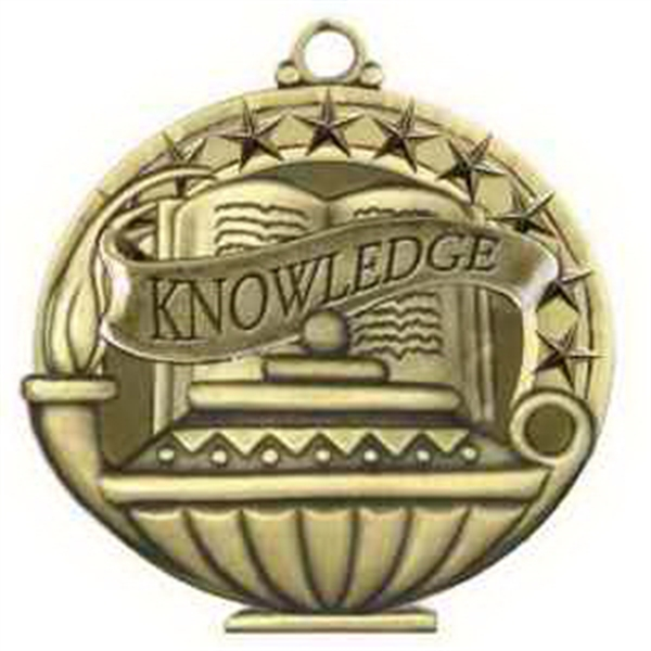 "2"" Academic Performance Medal KNOWLEDGE in Gold"