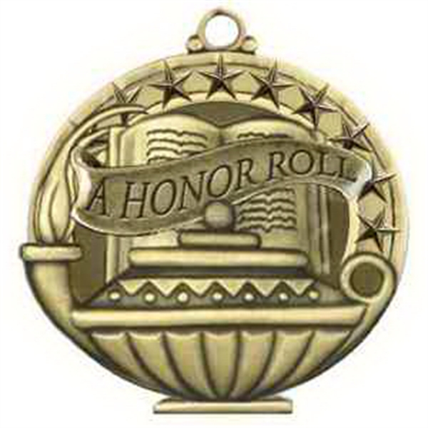 "2"" Academic Performance Medal A HONOR ROLL in Gold"