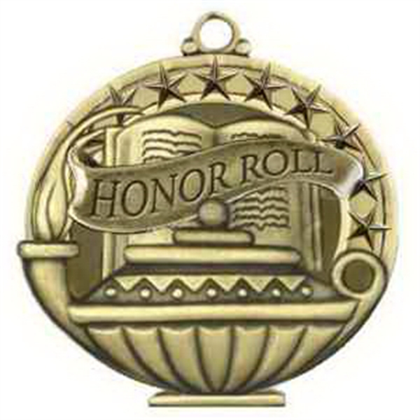 "2"" Academic Performance Medal HONOR ROLL in Gold"