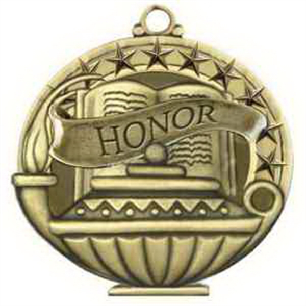 "2"" Academic Performance Medal HONOR in Gold"