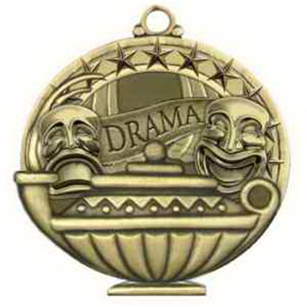"2"" Academic Performance Medal DRAMA in Gold"