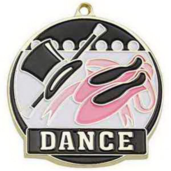 "2"" High Tech Medallion DANCE in Gold"