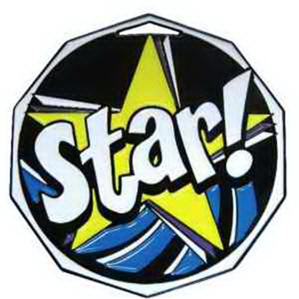 "2"" Decagon Color Medal STAR"