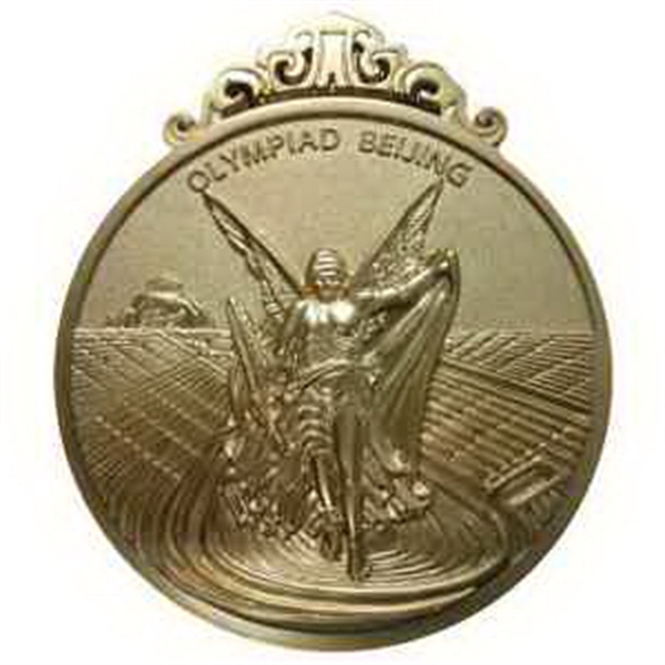 "1 1/4"" Power Stamped Iron Medal - Soft Enamel"