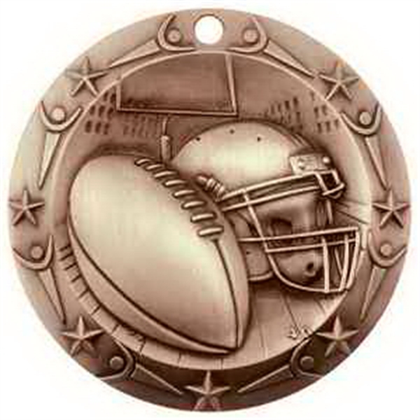 3'' World Class Football Medallion (B)