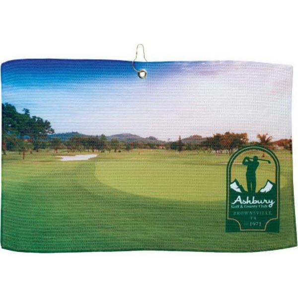 britePix (R) Golf Waffle Towel