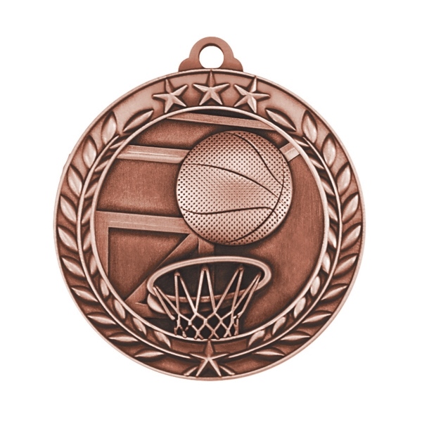1 3/4'' BASKETBALL MEDAL (B)