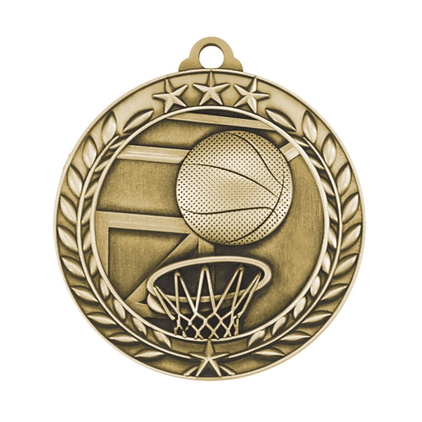 1 3/4'' BASKETBALL MEDAL (G)