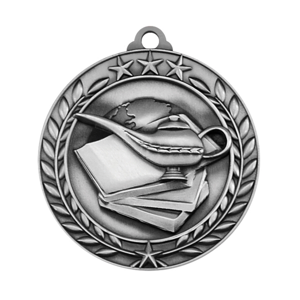 1 3/4'' BOOK AND LAMP MEDAL (S)