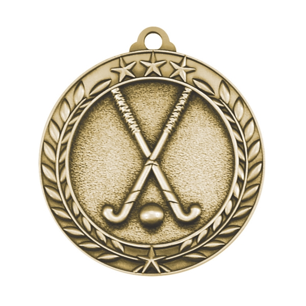 1 3/4'' FIELD HOCKEY MEDAL (G)