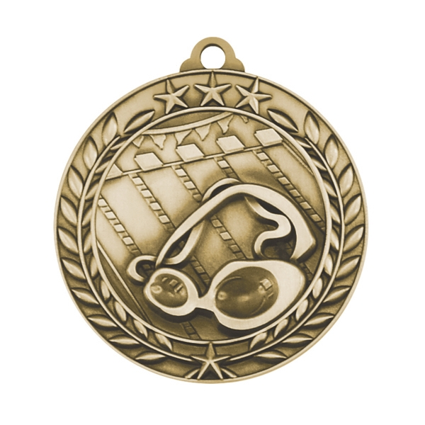 1 3/4'' SWIMMING MEDAL (G)