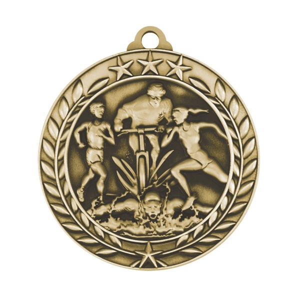 1 3/4'' TRIATHLON MEDAL (G)