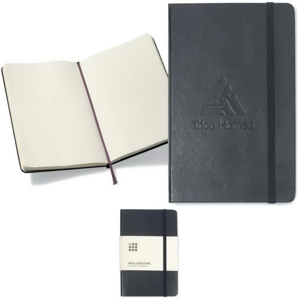 Moleskine® Hard Cover Squared Large Notebook