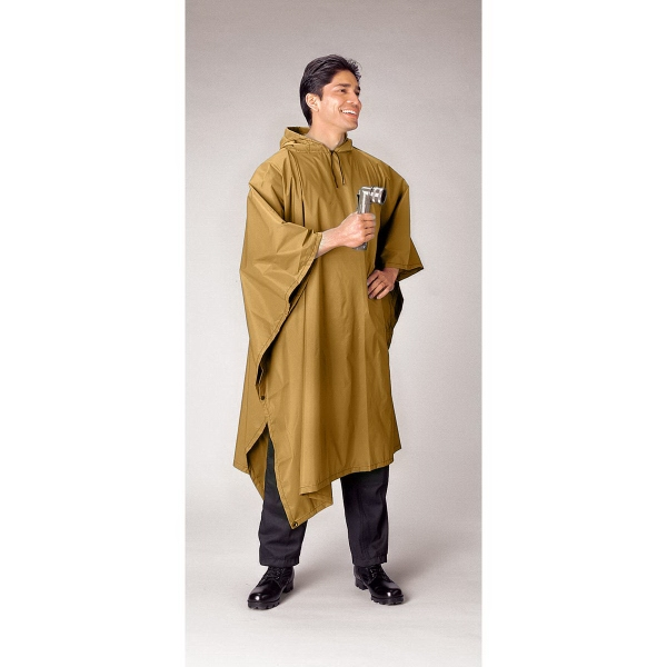 G.I. Type Coyote Brown Rip-Stop Poncho