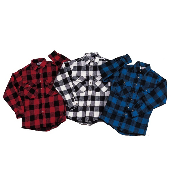 Extra Heavyweight Buffalo Plaid Flannel Shirt