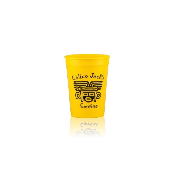 12oz Stadium Cups-Yellow - 12 oz. yellow stadium cup