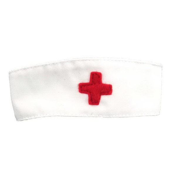 Medium Nurse Hat/Cap for plush toy