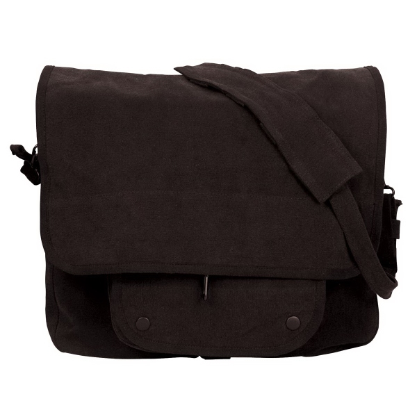 Black Vintage Paratrooper Shoulder Bags