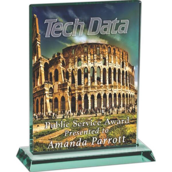 Large Hanover Award - This award is made of jade glass.