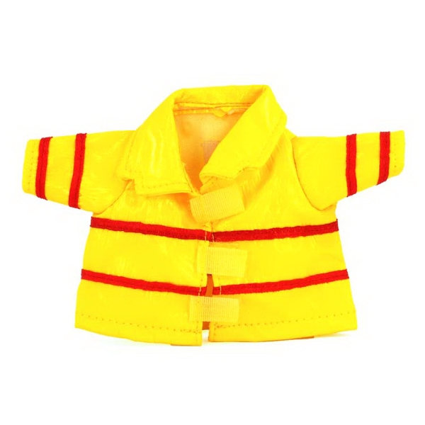 Small Vinyl Fireman Jacket for stuffed plush toy