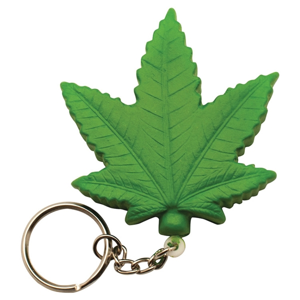 Cannabis Leaf Squeezie (R) Stress Reliever Keyring