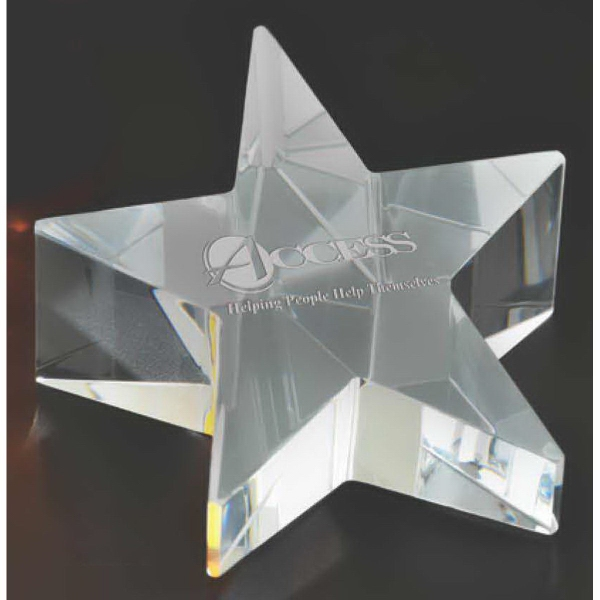 Rising Star Paperweight