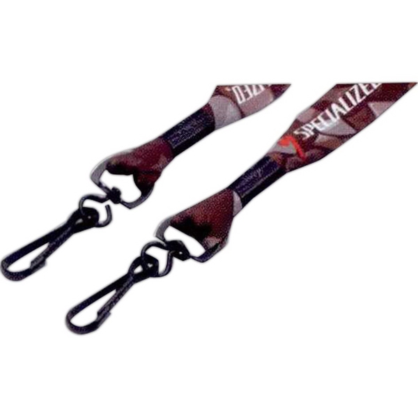 "3/4"" Dye Sublimated Double Swivel Snap Hook Lanyard"