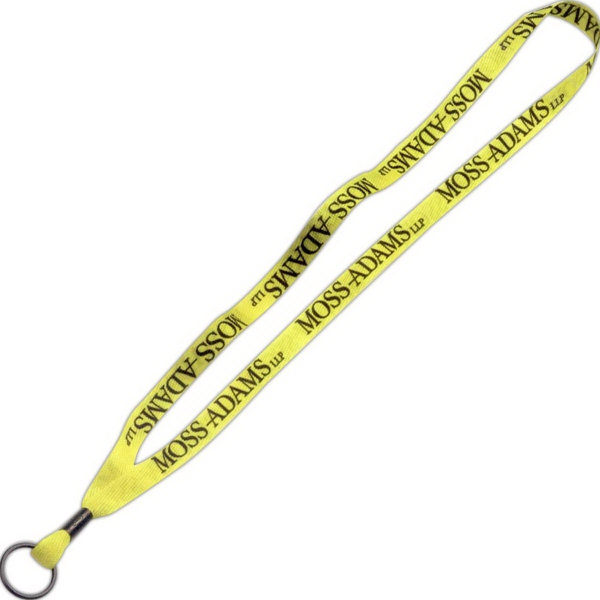 "1/2"" Dye-Sublimated Lanyard w/ Metal Crimp & Split Ring"