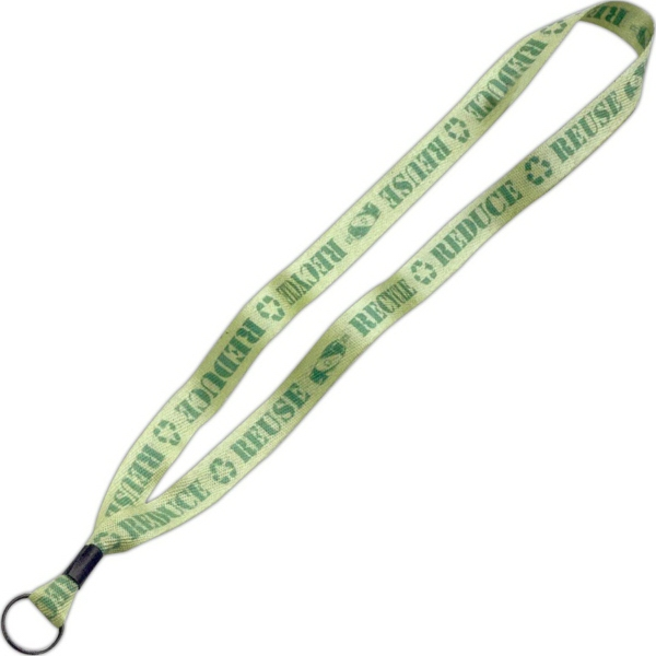 "3/4"" Dye-Sublimated Lanyard w/ Metal Crimp & Split-Ring"