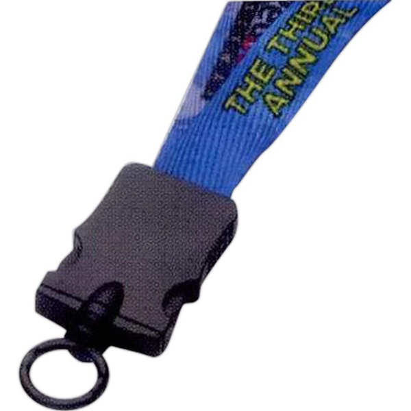 "3/4"" Dye-Sublimated Lanyard w/ Snap-Buckle Release & O-Ring"
