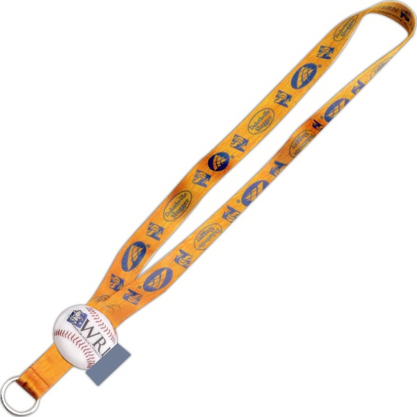 "3/4"" Imported Dye-Sublimated Lanyard with Custom Slider"